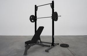 HIGH SQUAT RACK WITH BENCH PACKAGE