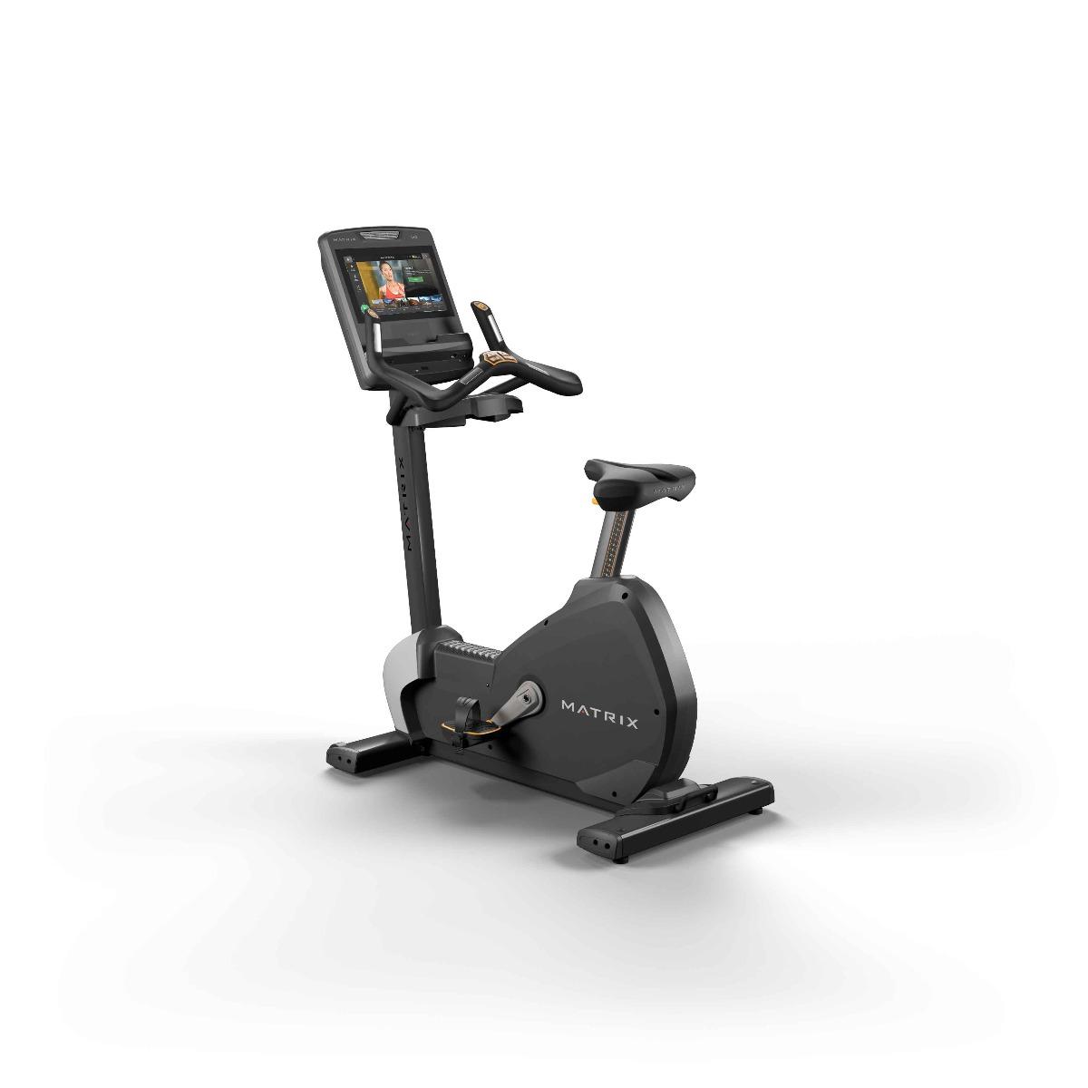 Commercial upright exercise bike